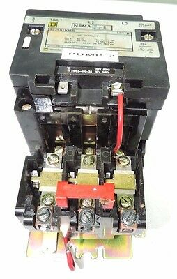Square D 8536SDO1V02BS Starter, Size 2, 120 VAC Coil, Temp Comp, 3 Phase, Tested
