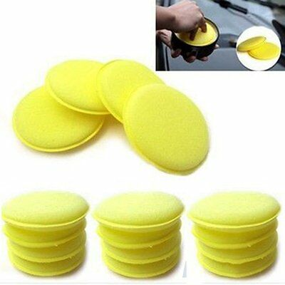 12x Waxing Polish Wax Foam Sponge Valet Detailing Pads Vehicle Detail Cars Glass