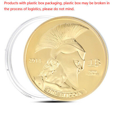 Gold Plated Titan Commemorative Coin BTC Bitcoin Collection Collectible Physical
