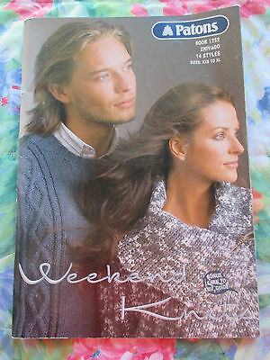 Patons Zhivago Knitting Pattern Book #1252 ~ His & Hers Weekend Knits