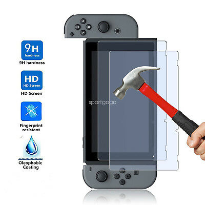 2x HD 9H Tempered Glass Screen Protector Game Guard Shield F Nintendo Switch SG