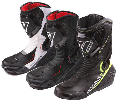 aa77e4e731e77 Modeka Speed Tech Sport Motorcycle Boots Sport Racing Moto Gp with Grinder