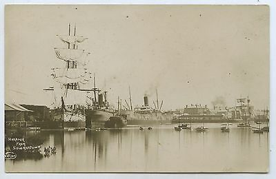 C1910 Rp Npu Postcard Clipper Ships/steamships Port Pirie Harbour Sa M64