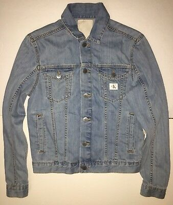 Calvin Klein Jeans Light Blue Trucker Denim Jacket Unisex X-SMALL XS 41QA773