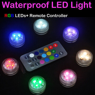 1PC Waterproof Round Candle Color Changing LED Light with Remote Control