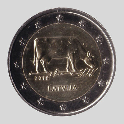 Latvia 2016 - 2 Euro Comm - Latvian Agricultural Industry (UNC)