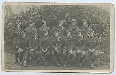 Ww1 Rp Postcard Aif Artillery Soldiers With Bandoliers France M100