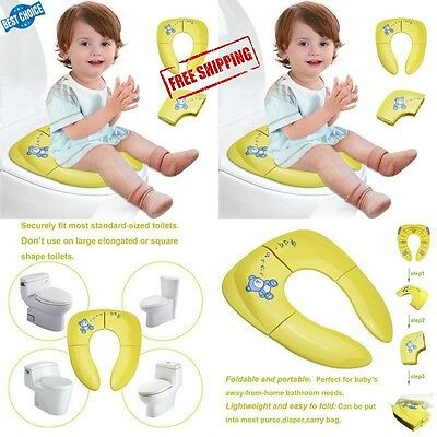 Potty Seat Portable Toilet Folding Training Toddler Kids Baby Reusable Chair NEW