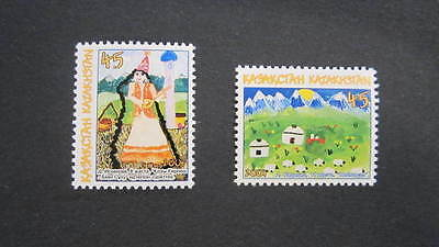 Kazakhstan Kasachstan 2004 MNH** Mi. 470-71 Children Drawing
