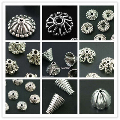 Wholesale Lot Tibet Silver Bead Caps For Jewelry Making