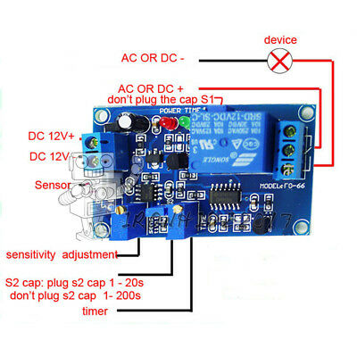 12V Photoswitch Photoresistance LDR Photoresistor+Relay Módulo Light Detect