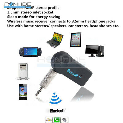 Bluetooth V3.0 Wireless Stereo Audio Music Receiver 3.5mm Handsfree Car AUX Kit