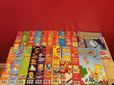 Simpsons Magazine Comics Job Lots x 20 - Editions from 2000-2003