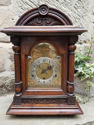 A grand Westminster chiming bracket clock in mahogany - German 1920's GWO