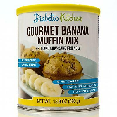 Diabetic Kitchen Gourmet Banana Muffin Mix 390 g, Low Carb, Gluten Free, Low Fat