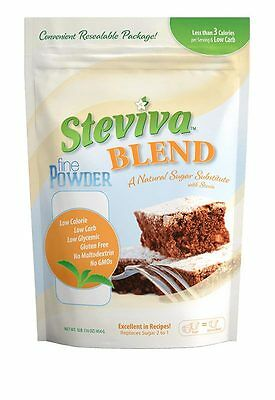 Steviva Blend Fine Powder Stevia & Erythritol Sweetener 454g,Sugar Free,Low Carb
