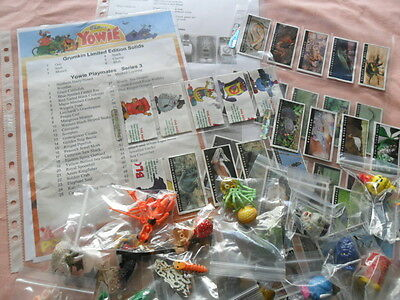 YOWIES SERIES 3 COMPLETE * FULL SET of 50 + ALL 6 GRUMKINS + CHECK LIST + PAPERS