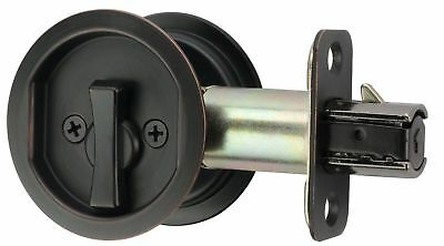 Citiloc Round Bed / Bath Privacy Pocket Door Latch Oil Rubbed Bronze