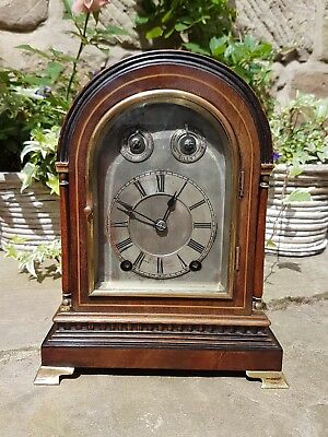 A small mahogany bracket clock by W&H superb quality platform esc five gongs