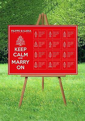 Tableau Matrimonio Keep Calm Marry On Originale Segnatavoli Nozze Invito Sposi
