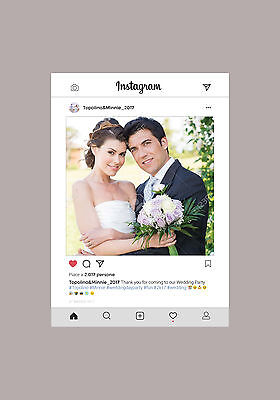 CORNICE INSTAGRAM FILE DIGITALE PERSONALIZZABILE per PHOTO BOOTH