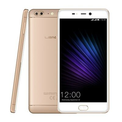 ELETTRONICA Gold [HK Stock] LEAGOO T5, 4GB+64GB, Dual Back Cameras, Fingerprint