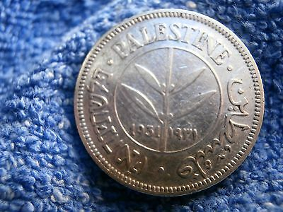 Palestine: 1931  Scarce Silver 50 Mils  Extremely Fine Plus!!!