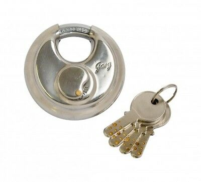 Discus Padlock Satin Stainless Steel 70mm Stainless Steel Pack Of 1
