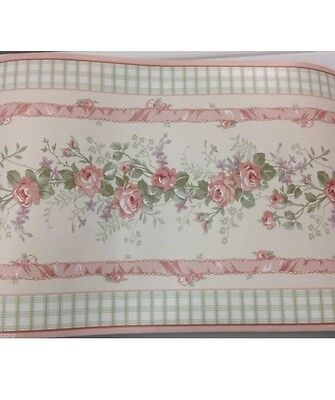 Kidsline Bellissima 8006WB Vintage Cottage pink WALL BORDER roll 10 Yds / 9.14m
