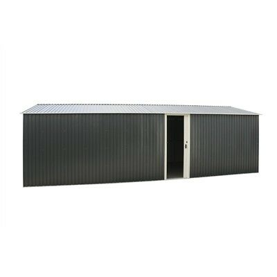 Grey 6Ft Wall And Roof Extension For Your Olympian Metal Car Garage.