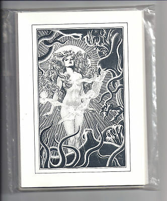 Big O Art Cards - Original 1970s - Eight Virgil Finlay Cards [Ref # 7]