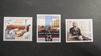 Lietuva Litauen 2016  MNH** Mi.1210;1213,1214 Lot single stamps