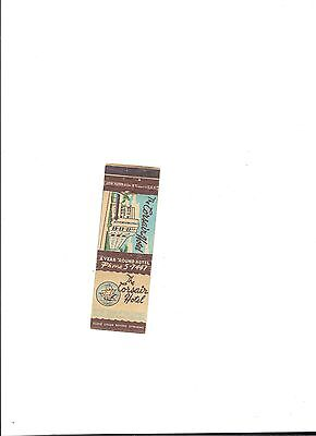 Vintage Matchbook Cover The Corsair Hotel Miami Beach Fl