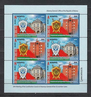 Belarus Weissrussland MNH** 2016 Mi.1143-44 KB Attorny General Meeting of CIS