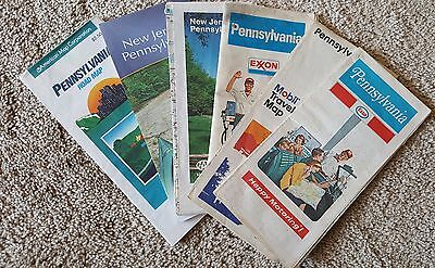 Lot of Pennsylvania and New Jersey Road Maps - Esso, Exxon, etc • $1.00