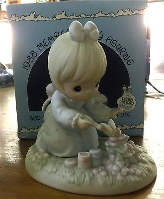 Preciuos Moments Figurine Mib - God Bless You For Touching My Life 1987