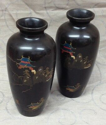 Japanese Lacquered Vases