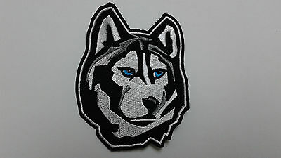 "1 PC ""M"" Size SIBERIAN HUSKY EMB PATCH 3-1/8X4"" HOOK BACK"
