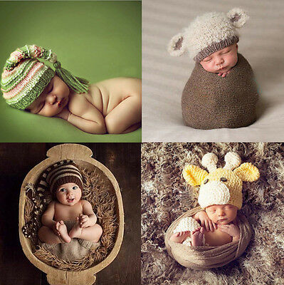 Baby Hats / Photo Props , Newborn Photography Baby Shower Gift