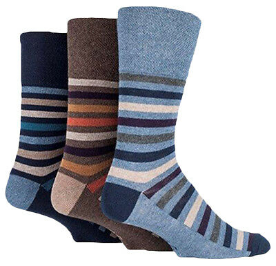 Clothes, Shoes & Accessories 39-45 Eur MGG45 Grey Squares 12 Pairs Mens Gentle Grip Socks Size 6-11 Uk