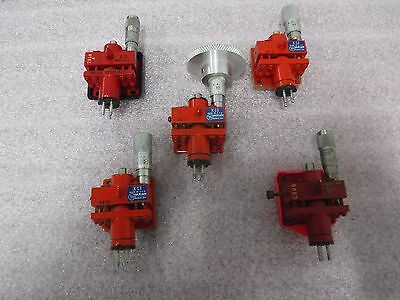 [lot of 5] Varian X13 Reflex Klystron Microwave Tube Oscillator with Micrometers