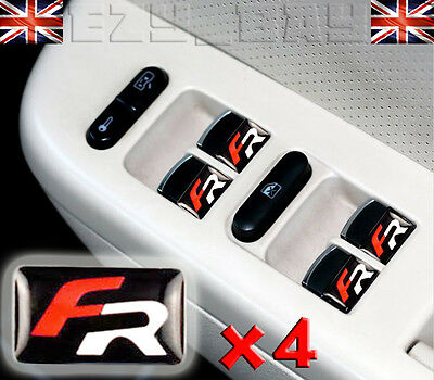x4 SEAT FR Racing Logo 3D Interior Badges For Steering Wheel Dash Emblem Styling