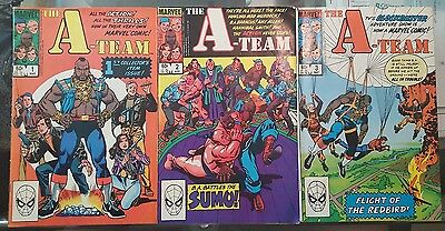 Lot of 3 1984 Copper Age MARVEL Comics - THE A-TEAM Complete Limited Set 1-3