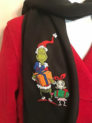 "GRINCH scarf...""NWT"" How The GRINCH Stole Christmas Clothing"