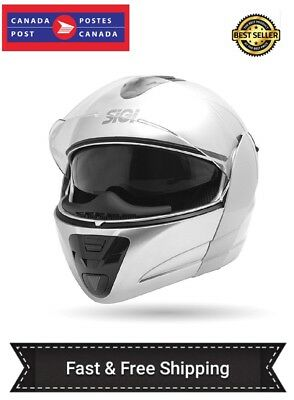 Full Face Sigi Drifter Motorcycle Helmet-DOT approved-Silver/Gray