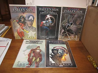 Fallen Son Death of Captain America Set with Turner Variants N063