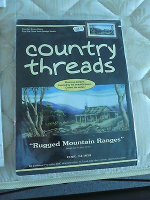 Counted Cross Stitch Kit  - Country Threads/Fiona Jude - Rugged Mountain Ranges