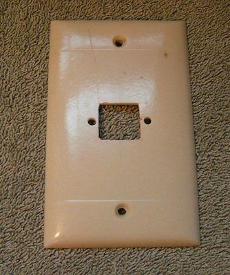 Vtg Sierra Deco solid Bakelite Ivory Square prong Outlet Switch Plate Cover