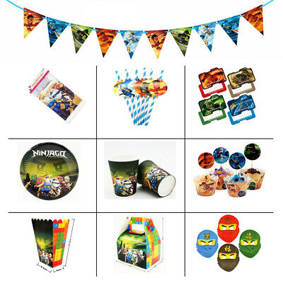 Ninjago Children Kids Theme Birthday Party Supplies Tableware & Serveware Range