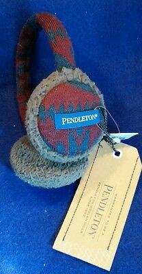 Pendleton Urban Outfitters Navy/Marin Wool And Acrylic EarMuffs Brand New